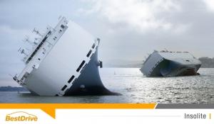 Un cargo chargé de 1 300 voitures de luxe échoué près de Southampton