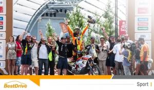 David Casteu est le premier motard français du Dakar 2015