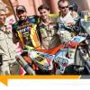David Casteu sur le podium départ du Dakar 2015