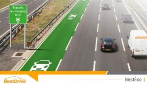 Des voies spéciales pour recharger les véhicules électriques sur les autoroutes britanniques