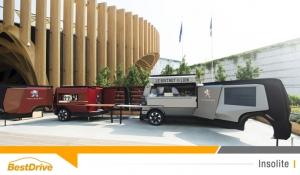 Le foodtruck Peugeot fait son show au Pavillon de France de l'Exposition Universelle