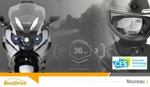 CES 2016 : casque à réalité augmentée et phares moto laser pour BMW Motorrad