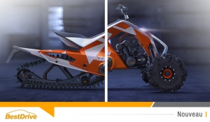 KTM X2 Hybrid, entre quad et motoneige