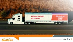 Otto réalise une livraison en camion 100% autonome