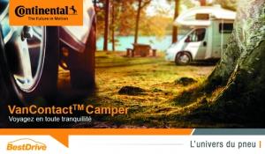 Nouveau pneu 4 saisons spécial camping-car : Continental VanContact Camper