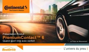 Nouveau pneu tourisme hautes performances : découvrez le Continental PremiumContact 6