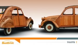Une 2CV en bois rejoint le musée virtuel « Citroën Origins »
