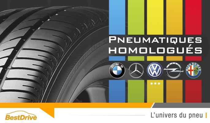 BestDrive - Marquages constructeurs homologations montes d'origine pneumatiques