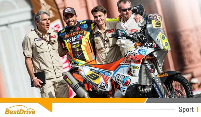 BestDrive partenaire de David Casteu - Dakar 2015 podium départ