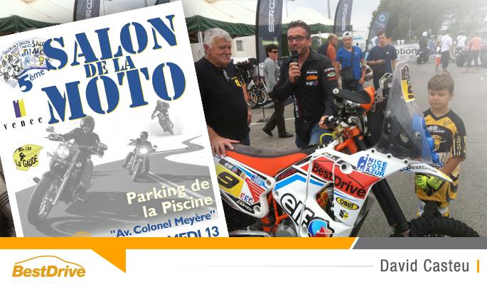 BestDrive - David Casteu parrain du 5e Salon de la Moto de Vence