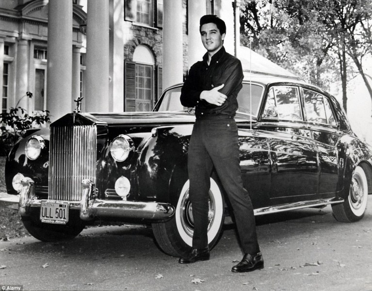 """The King"" et sa Royce Phantom V"