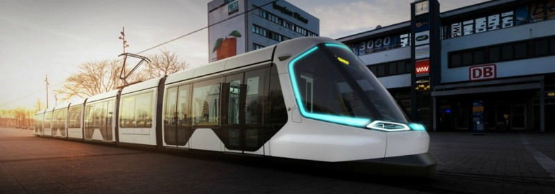 Le tramway du futur, fruit de la collaboration en Alstom et Peugeot Design Lab