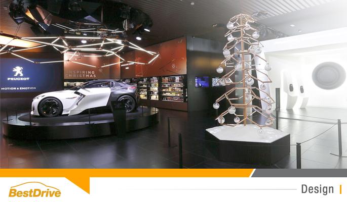 BestDrive - Exposition Noël Peugeot Avenue Fractal Concept Art Toys Léo'z 00