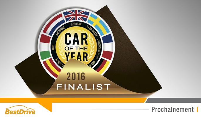 BestDrive - Finalistes pour le titre de voiture de l'année 2016