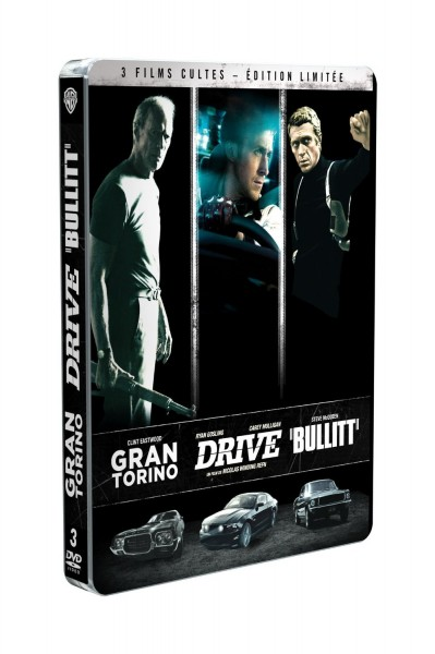 BestDrive - Idées cadeaux Noël passionné voiture coffret DVD Gran Torino Drive Bullitt