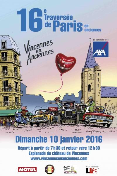 BestDrive - Traversée de Paris 2016 Vincennes en Anciennes affiche
