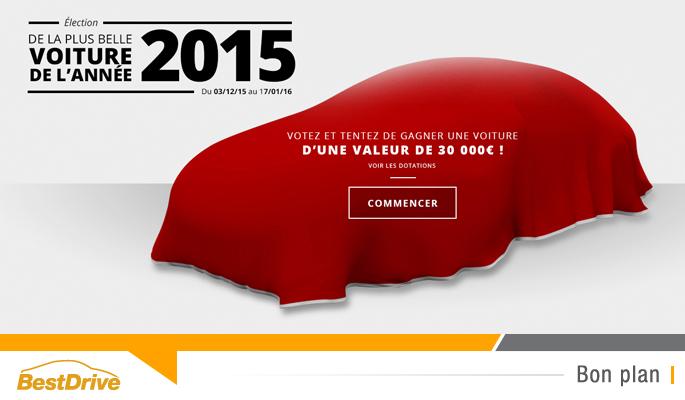 BestDrive - Votez pour élire la plus belle voiture de l'année 2015