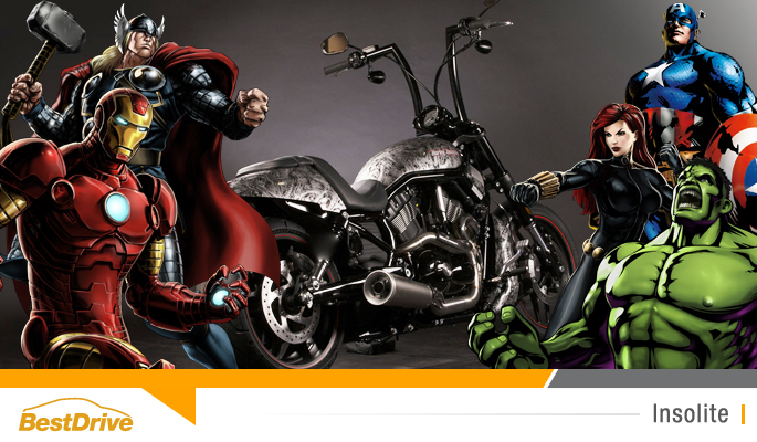 BestDrive - Motos customisées Harley Davidson super héros Marvel