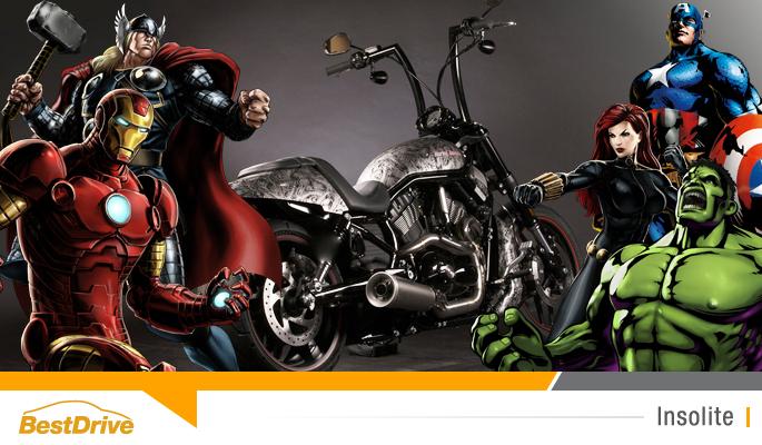 BestDrive - Motos customisées Harley Davidson super héros Marvel