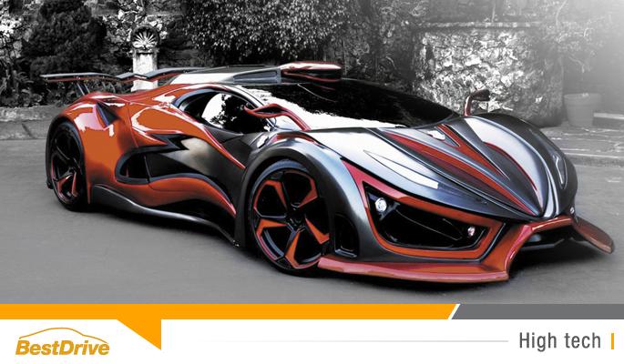 BestDrive - Inferno Exotic Car hypercar qui résiste aux collisions