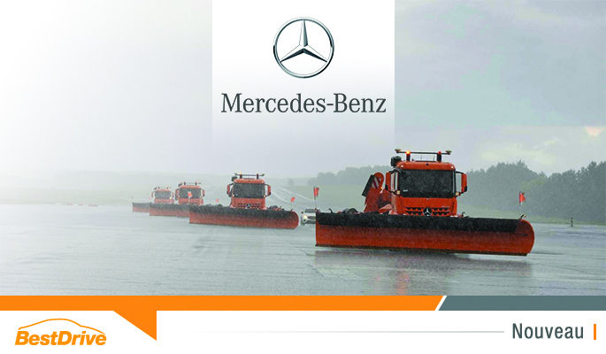 Véhicule chasse-neige Mercedes-Benz autonome