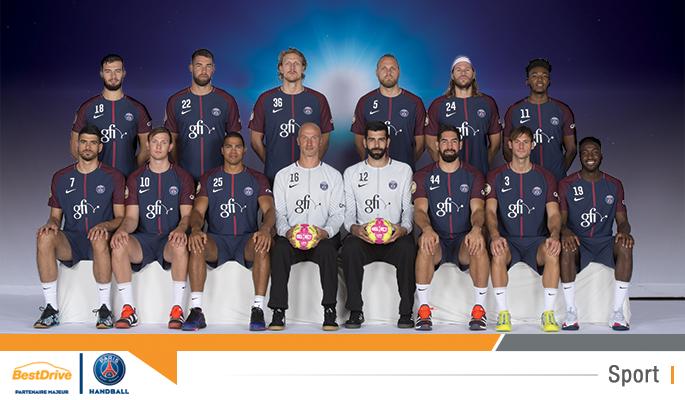 L'effectif du Paris Sain-Germain handball au complet - Saison 2017-2018