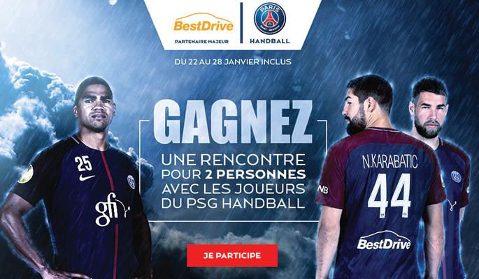 Jeu concours BestDrive : gagnez une rencontre exclusive avec les joueurs du Paris Saint-Germain Handball