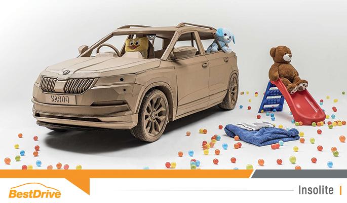 Kid Karoq : le SUV Skoda Karoq en carton conçu par les enfants