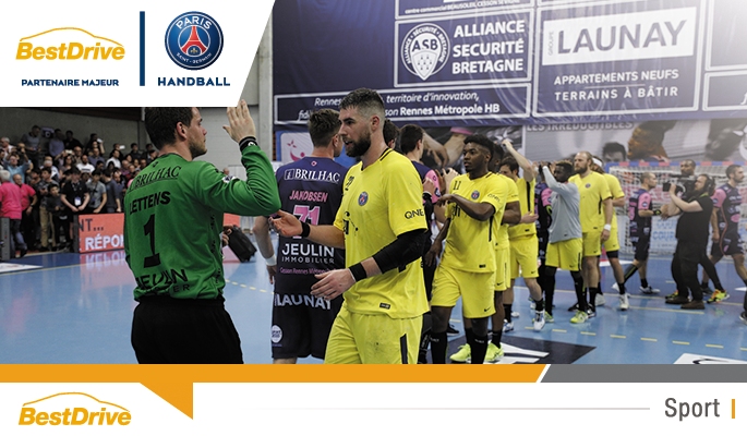 Cesson Rennes - Paris Saint-Germain Handball championnat de France de handball masculin 2017-2018